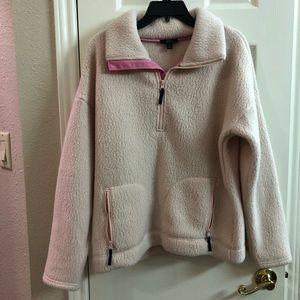 BNWT JCrew Pink Fleece Pullover